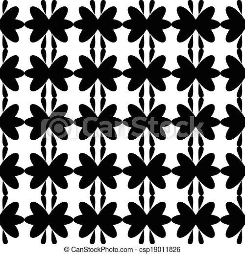 Black pattern floral seamless - csp19011826