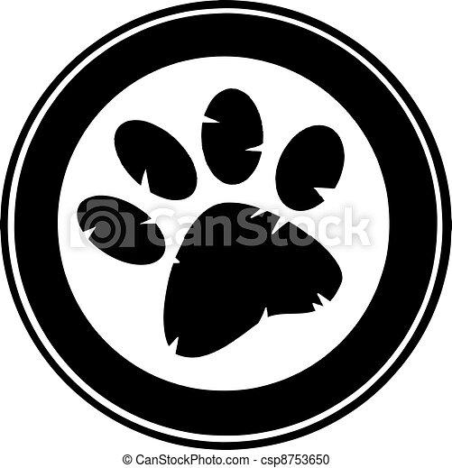 Black Paw Print Banner - csp8753650