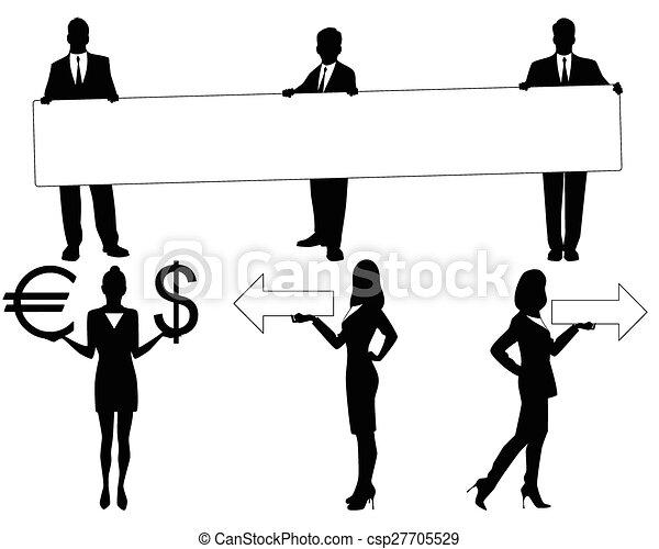 Black people silhouettes - csp27705529
