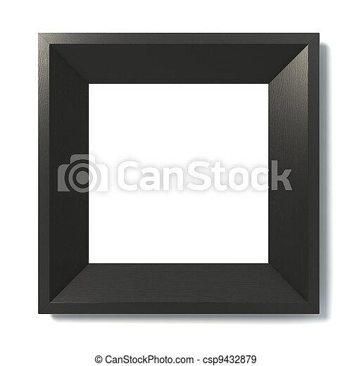black picture frame - csp9432879