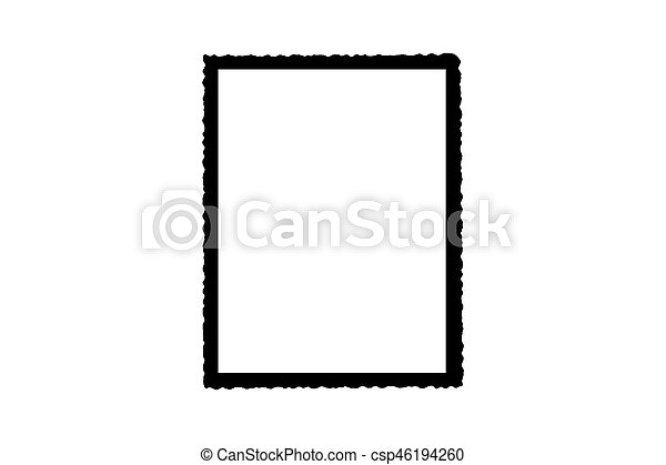 Black Picture Frame Wallpaper Decorative Objects Isolated White On