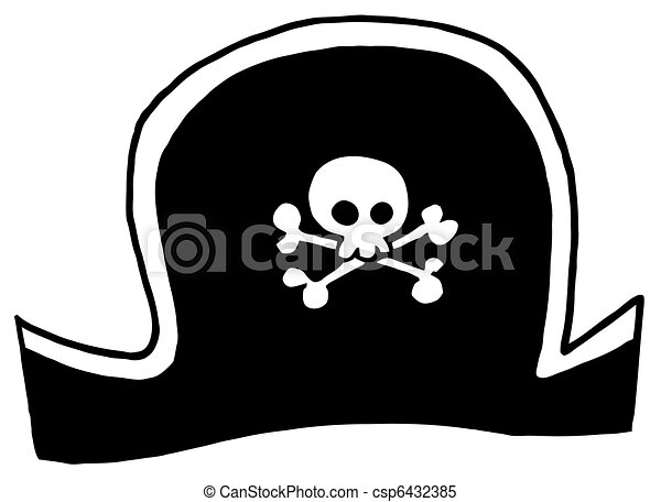black pirate hat cartoon character rh canstockphoto com cartoon pirate cats free downloards cartoon pirate captain hat