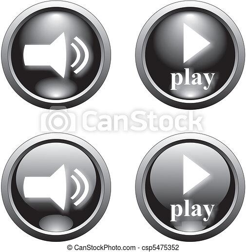 black play  button - csp5475352