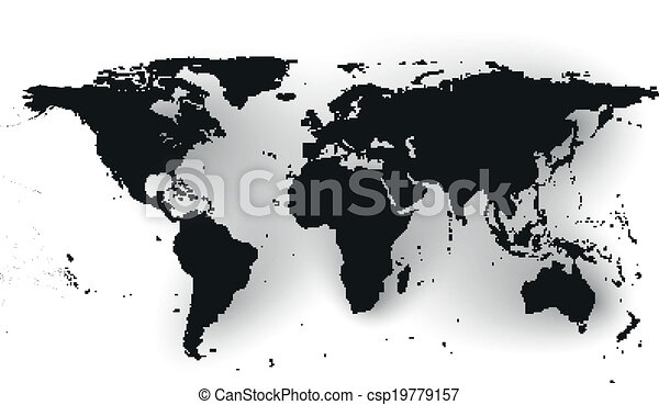 Black political world map vector black political world map black political world map vector gumiabroncs Gallery