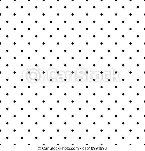 Black polka dots white background - csp18994998