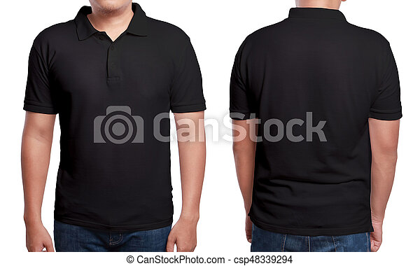 Black Polo Shirt Design Template Black Polo T Shirt Mock Up Front