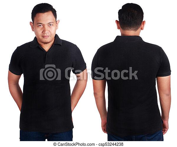 Black Polo Shirt Mockup Template Blank Polo Shirt Mock Up Front