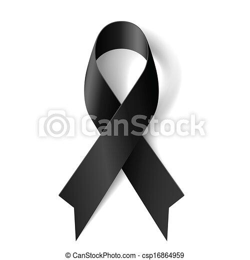 Black ribbon. - csp16864959