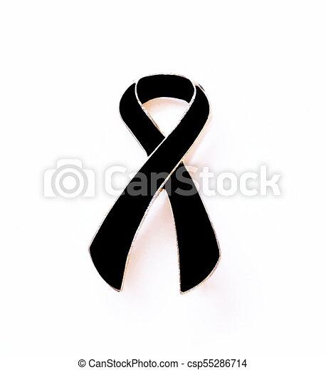 Black Ribbon Mourning And Melanoma Awareness Black Ribbon Melanoma
