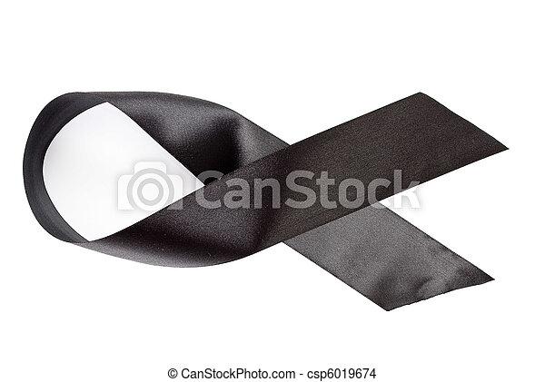 Black ribbon  - csp6019674