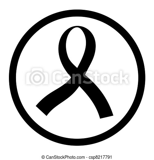 Black ribbon - csp8217791