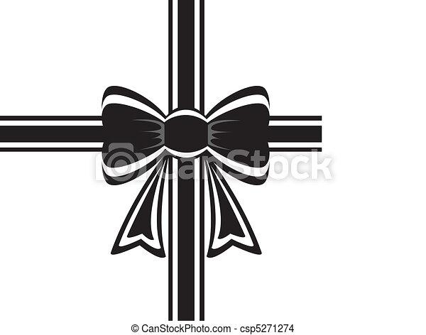 black ribbon with bow - csp5271274