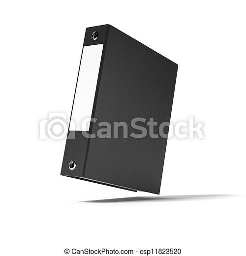 Black ring binder isolated on white background clip art Search