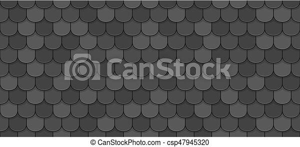 Black roof tiles - csp47945320