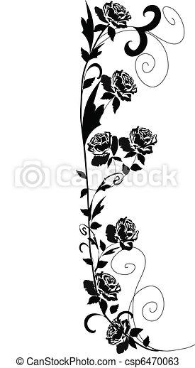 Black roses - csp6470063