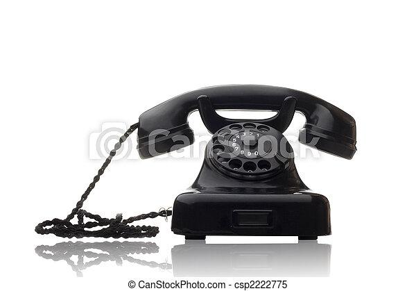 black rotary telephone - csp2222775