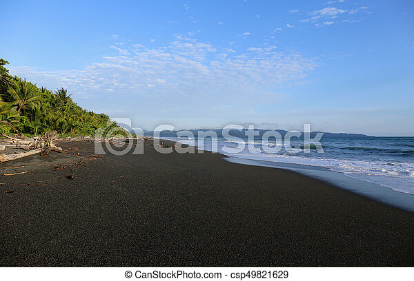 Black Sand Beach In Costa Rica