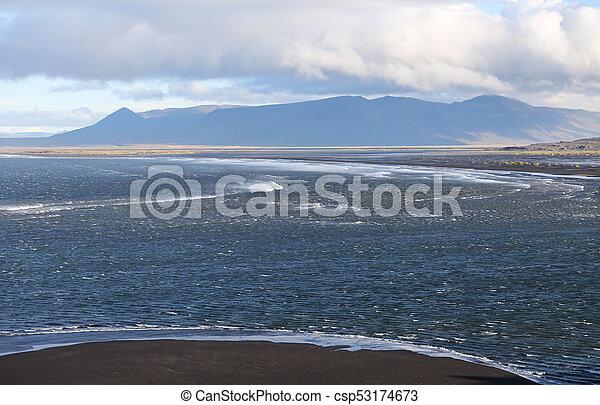 Black Sand Beach in Iceland - csp53174673