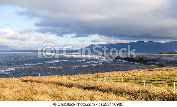 Black Sand Beach in Iceland - csp53116985