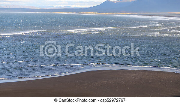 Black Sand Beach in Iceland - csp52972767