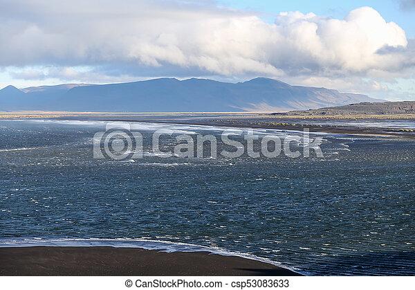 Black Sand Beach in Iceland - csp53083633