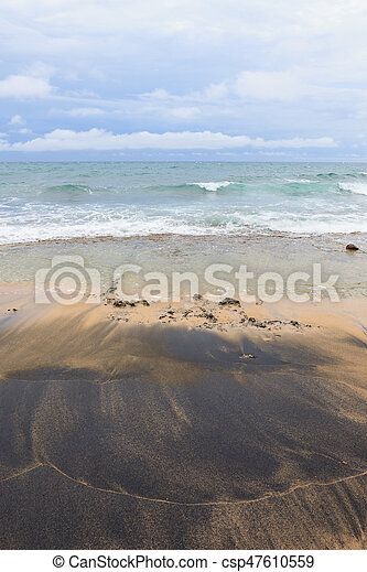 Black Sand On Beach Costa Rica