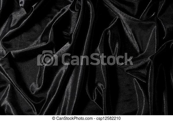 Black satin - csp12582210