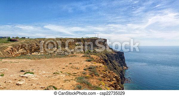 Black Sea coast near the city of Sevastopol - csp22735029