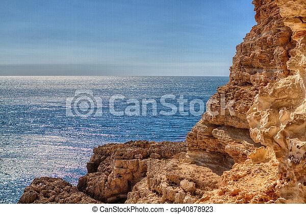 Black Sea coast near the city of Sevastopol - csp40878923