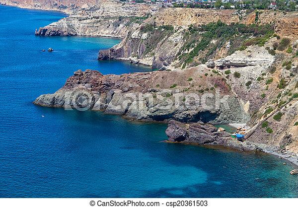 Black Sea coast near the city of Sevastopol - csp20361503