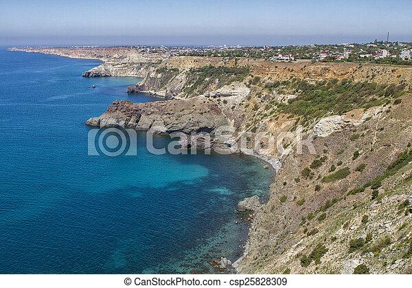 Black Sea coast near the city of Sevastopol - csp25828309