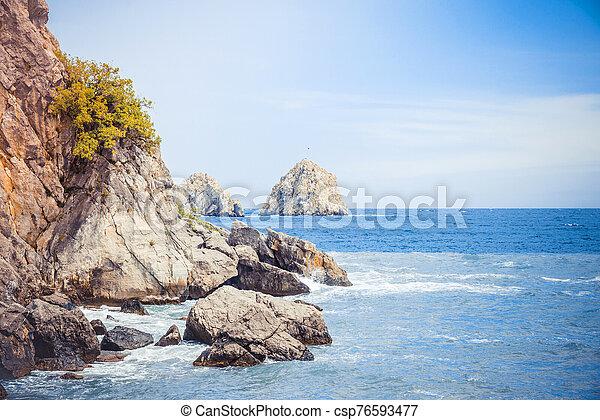 Black Sea, Crimea - csp76593477