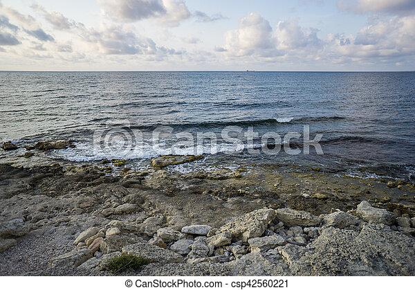 Black sea in ancient Greek polis Chersonese - csp42560221
