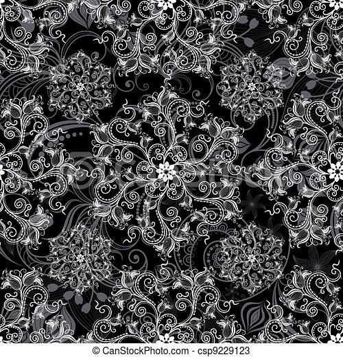 Black seamless pattern - csp9229123