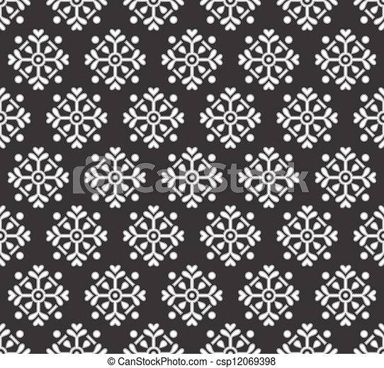 Black seamless wallpaper - csp12069398