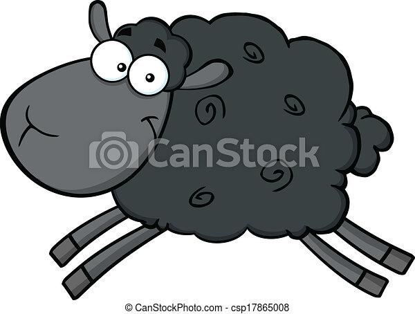 black sheep character jumping black sheep cartoon mascot vector rh canstockphoto com black sheep clipart graphics black sheep clipart graphics
