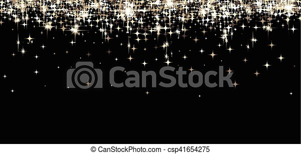 Black shining banner with stars. - csp41654275