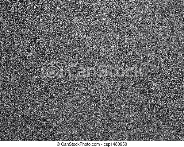 Black shiny new asphalt abstract texture background. - csp1480950