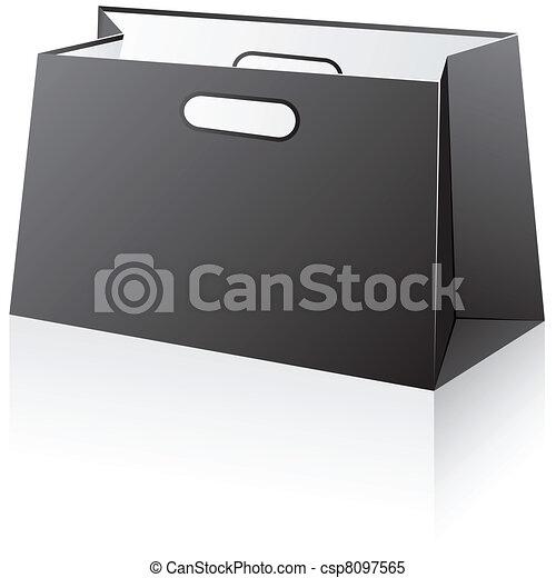 Black shopping bag. - csp8097565