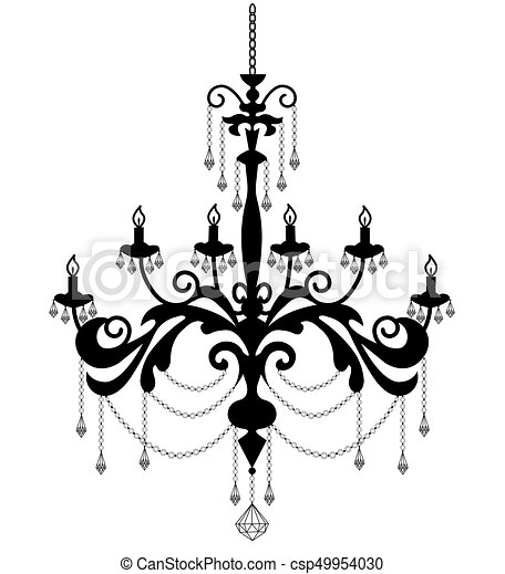 Black sihouette of chandelier chandelier silhouette vectors black sihouette of chandelier csp49954030 aloadofball Image collections