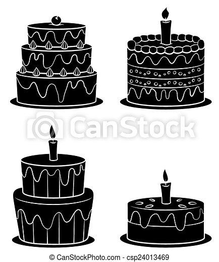 Black Silhouette Collection Cake Black Silhouette