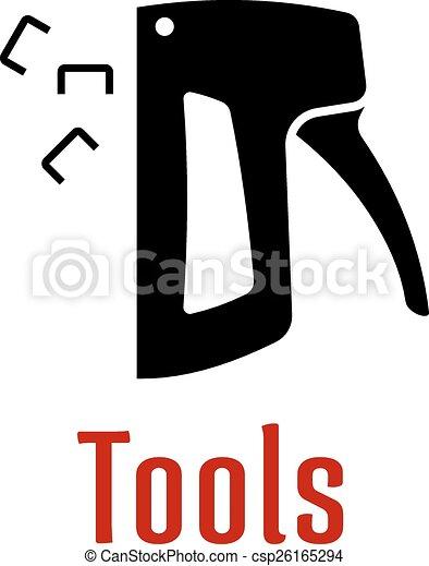 Black Silhouette Of Staple Gun Tool Black Silhouette Of Staple Gun
