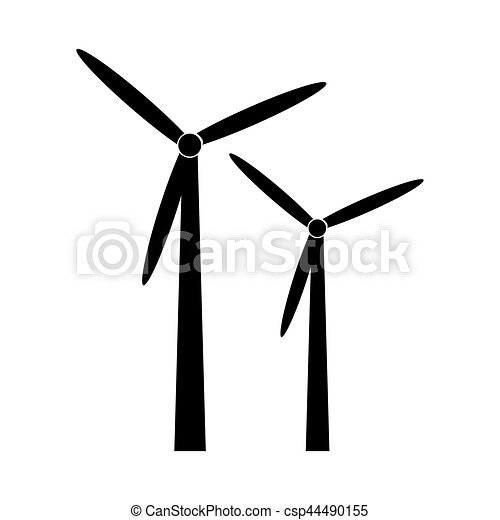 black silhouette windmill alternative and renewable energy rh canstockphoto com windmill vector download windmill vector illustration