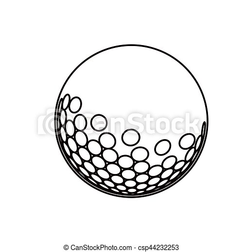 black silhouette with golf ball vector illustration clipart vector rh canstockphoto com vector golf ball tees vector golf ball outline