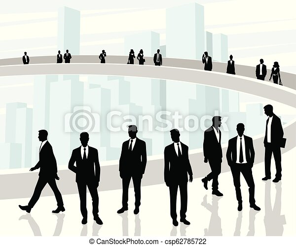 Black silhouettes of business people - csp62785722