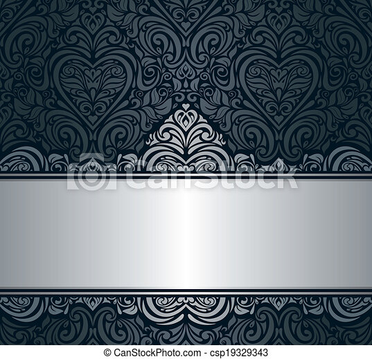 Black silver vintage background black silver vintage invitation black silver vintage background csp19329343 stopboris Gallery