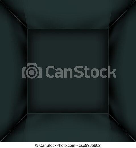 Black simple empty room interior - csp9985602