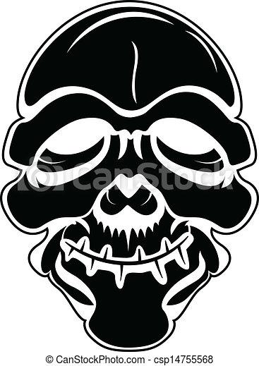 Black Skull Vector - csp14755568