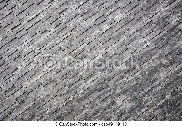 Black Slate Wall Texture And Background. Interior Or Exterior Decoration    Csp49119110