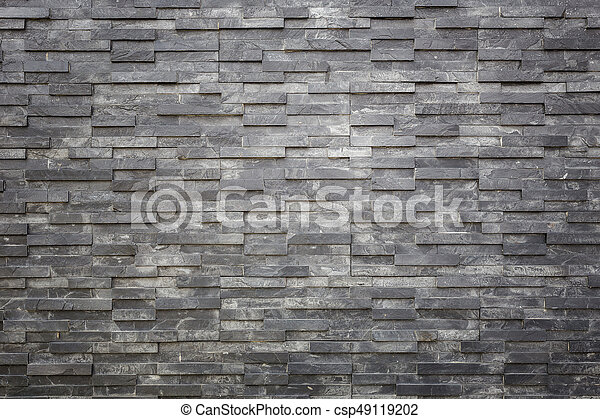Black Slate Wall Texture And Background. Interior Or Exterior Decoration    Csp49119202